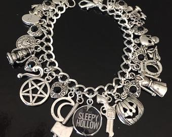 Sleepy Hollow Charm Bracelet, Headless Horseman, Halloween, Tv fandom