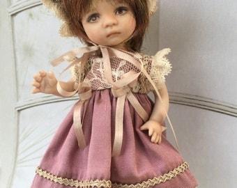 "Costume for Dianna Effner BooBoo, Dolly, BeBe 5 1/2"" doll"