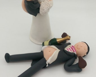 drunk wedding cake toppers uk wedding cake topper etsy uk 13765