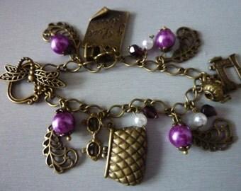Downton Abbey Love Charm Bracelet Fairytale nostalgic Jewelry