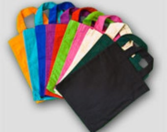 Plain goody sized tote bags