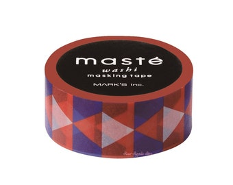 Pattern Retro Triangle Maste Japanese Washi Tape Masking Tape Deco Tape Paper Tape (MST-MKT186-C)