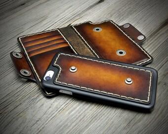 DETACHABLE - iPhone 7 Leather Case. IPhone 7 Plus Leather Case. iPhone 7 Wallet Case. Available also for iPhone 6/s/Plus.
