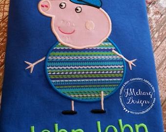 Peppa Pig Family Grandpa Pig Birthday Custom Tee Shirt - Customizable -   Adults 181