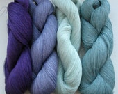 Linen Yarn Violet Gray Bluegray Gray 400 gr (14 oz ), Cobweb / 1 ply, each hank contains approximately 3000 yds