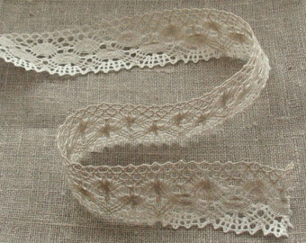 Linen Lace Natural  white gray
