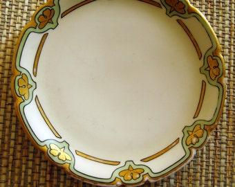 Vintage Jean Pouyat Limoges JPL France Vintage 1909 Butter Plate