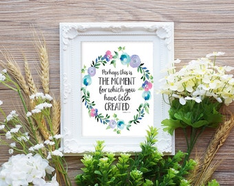Scripture Quote Print - Bible Verse Print - Inspirational Quote Art - Bible Wall Art - Religious Quote - Black White Digital Download