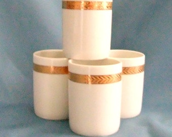 Hand decorated Limoges tumblers