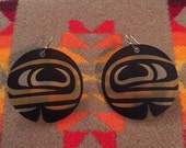 Canadian Native Made Earrings Whale Eye