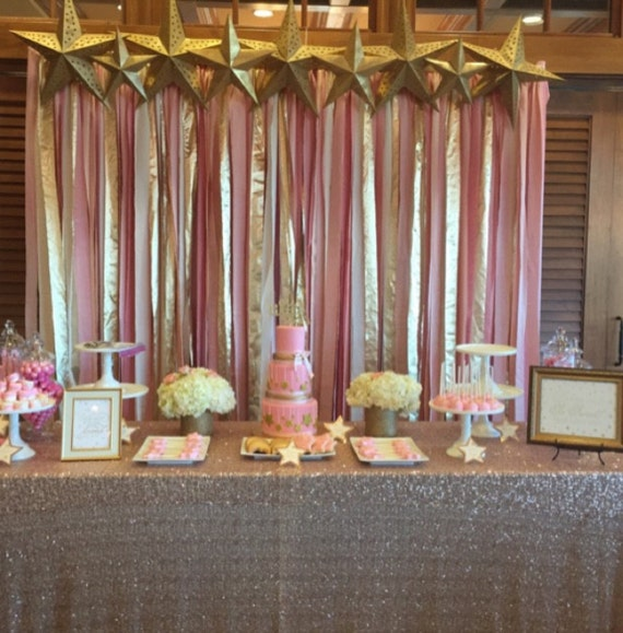 blush pink and gold hand dyed fabric backdrop for ceremony 5ft