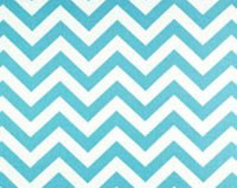 AQUA BLUE Premier Prints FABRIC Girly Blue Zig Zag Fabric Sale .By the Yard. Geometric Fabric 100% cotton  Home and living Clearance