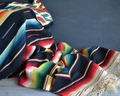 Early Vintage Mexican Blanket ~ Bed Cover ~ Vintage Mexico ~ Saltillo ~Southwest Decor