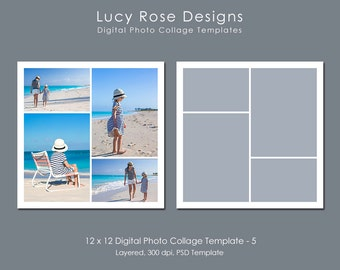 12 x 12 Photo Collage Template - 5