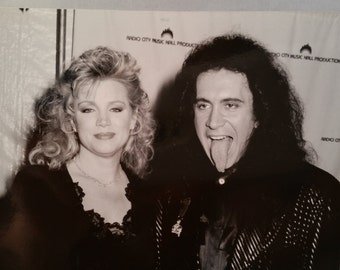 GENE SIMMONS of KISS 1989 Original Photo - with wife Shannon Tweed
