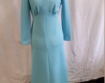 leslie fay baby blue maxi dress