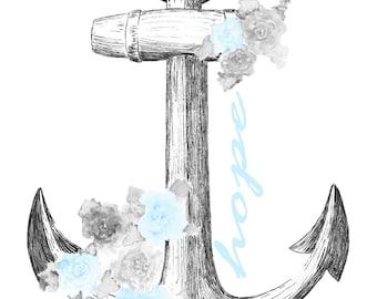 Anchor of Hope - blue - Digital Download