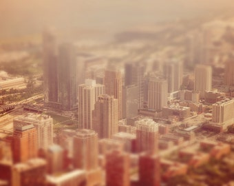 Chicago - Windy City - Second City - Tilt Shift - Aerial - Urban - Sky Deck