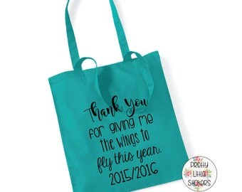 Thank you for giving me the wings to fly this year 100% Cotton Tote Bag