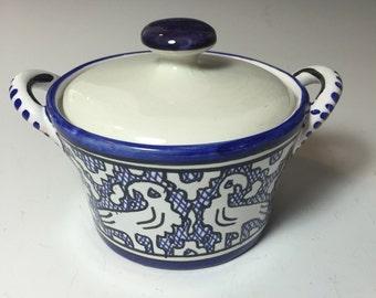 Small Deruta Lismat Covered Bowl
