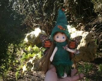 fairy doll miniature fairy clay doll