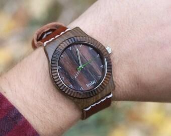 Wooden Watch - Real Wood Watch - Sandalwood Unisex Watch- ARBR-SN