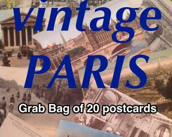 PARIS Cartes Postales - Grab Bag - lot of 20 vintage (antique) postcards from France CARTES POSTALES anciennes