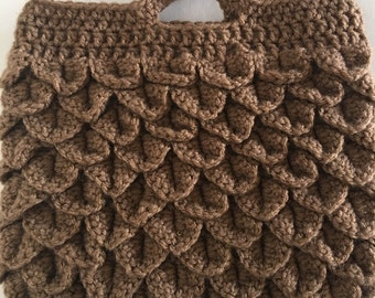 Crochet Crocodile Stitch Purse