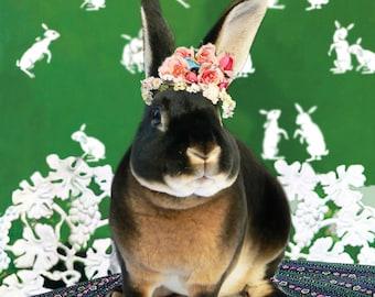 Giclee print of digital art - Bunny rabbit Frida Kahlo