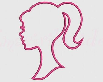 Barbie Applique Embroidery Design