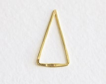 Vermeil Gold Skinny Open Triangle - 18k gold plated over 925 silver, lightweight triangle spacer