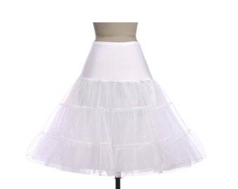 WHITE Petticoat//50s-style Petticoat Crinoline//Vintage inspired Underskirt//Tea Length Petticoat//S-XL// 11 Colors
