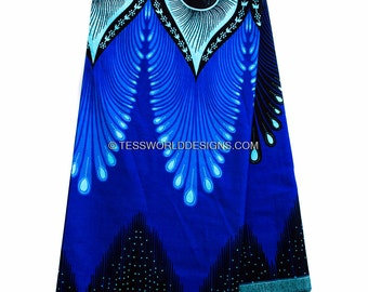 Plume African fabric/ Java African Fabric/ Java Print/ African print/ Tissue Africain/ African Wax Print/ 6 yards WP851