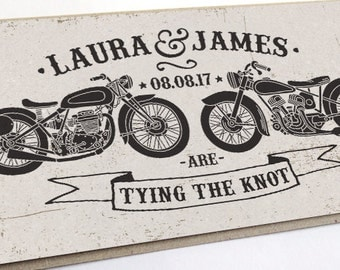 Biker Wedding Invitation   Rock U0026 Roll, Motor Bikes SAMPLE