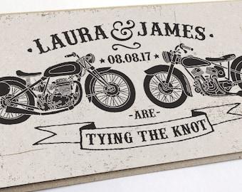 Biker Wedding Invitation - Rock & Roll, Motor Bikes SAMPLE