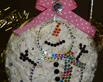 Bling Snowman Ornament-Can be Customized!
