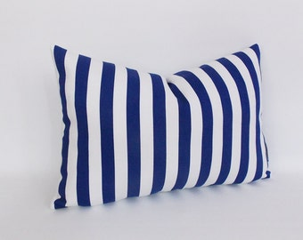 Amazoncom: navy striped pillows