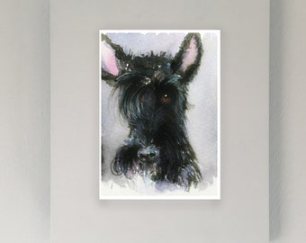 Scottie Dog Art Print Scottish Terrier  Unframed Print #114