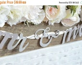 SALE 50% OFF Wedding Banner Mr & Mrs Letter Banner Wedding Bunting Wedding Garland Silver Banner Glitter Banner Bride To Be Banner Bridal Sh