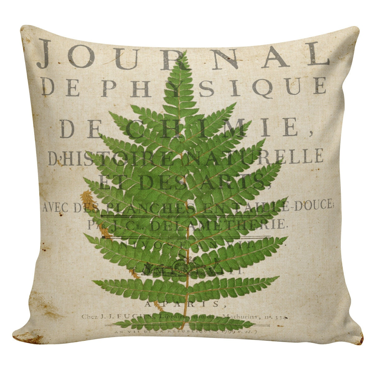 Pillow Cover Spring Throw Pillow Cushion Cover Botanical Fern