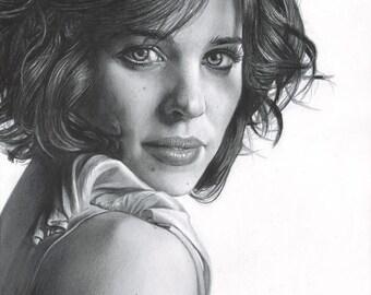 Drawing Print of Rachel McAdams (Doctor Strange, Sherlock Holmes, Mean Girls, The Notebook)