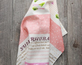 Summer Tea Towel - Summer Rhubarb