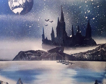Harry Potter Hogwarts Spray Paint art
