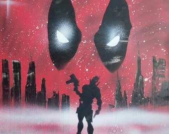 Deadpool - Spray Paint Art