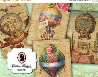 75% OFF SALE VINTAGE Balloons Digital Collage Sheet Digital Aceo Digital Download
