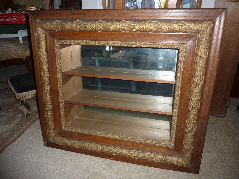 Vintage Mirrored Back 3 Shelf Shadow Box
