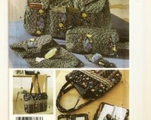 A Quilted Duffle Bag, Shoe Carrier, Toiletry Bag, Cell Phone Case, Shoulder Tote, Eyeglass Case and More Pattern: Uncut ~ Simplicity 5025