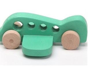 Handcrafted wooden plane natural, organic wooden toys for kids