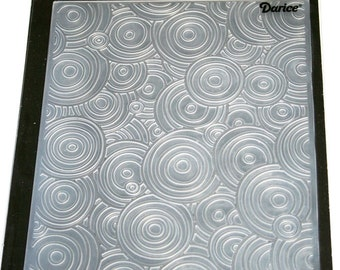 Circle Background Embossing Folder from Darcie Inc
