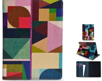 "Apple iPad Air / iPad Air 2 folio case cover from Create&Case ""Kaku"" stylish, unique colourful case with inside pockets"